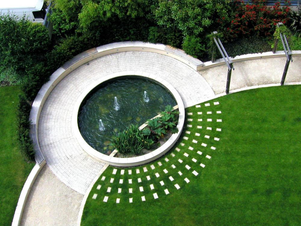 Circular Landscape Design Ecosia Modern Landscaping Garden Landscape Design Landscape Design