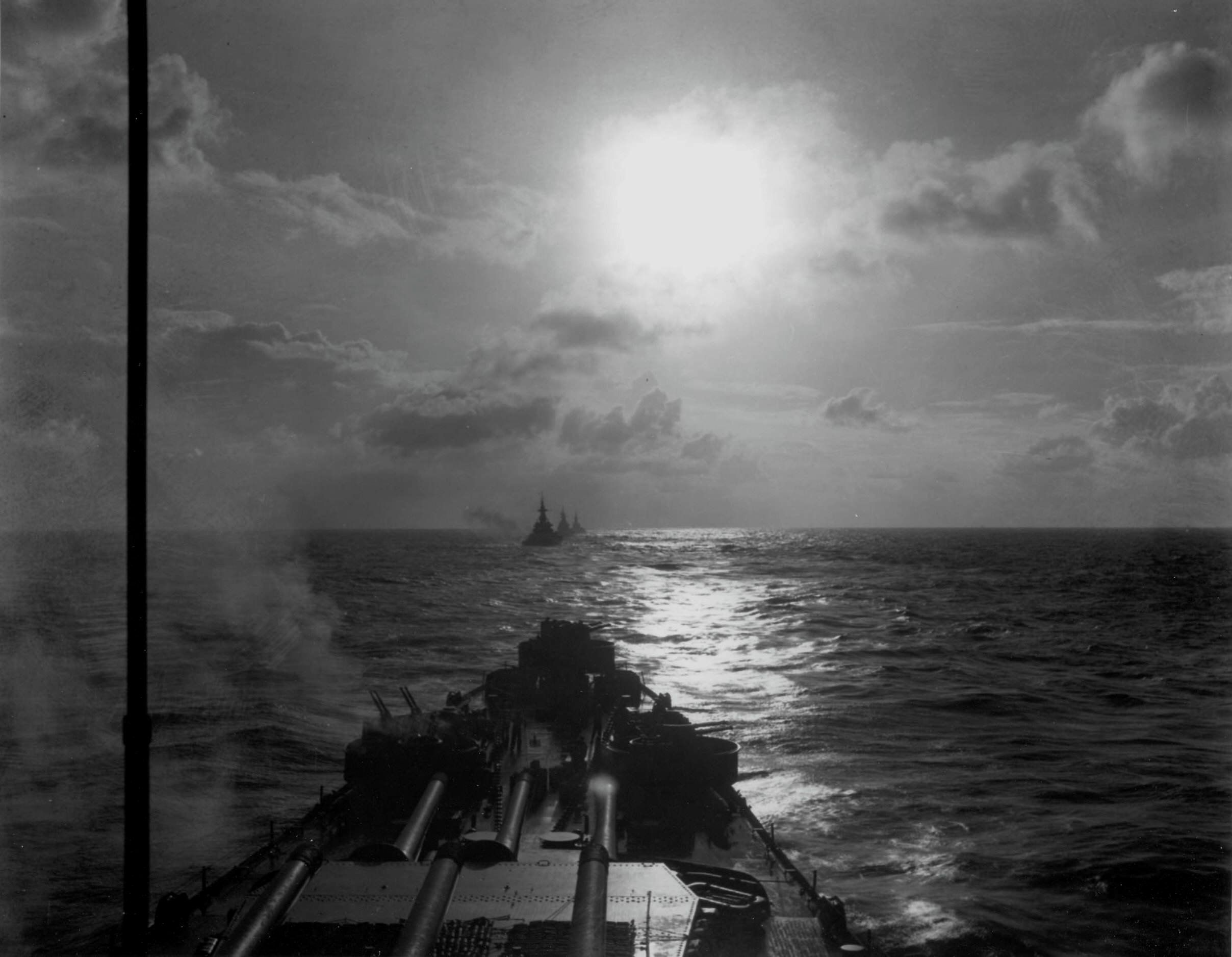 US Battleships in the Pacific, 1945 by  Unknown Artist