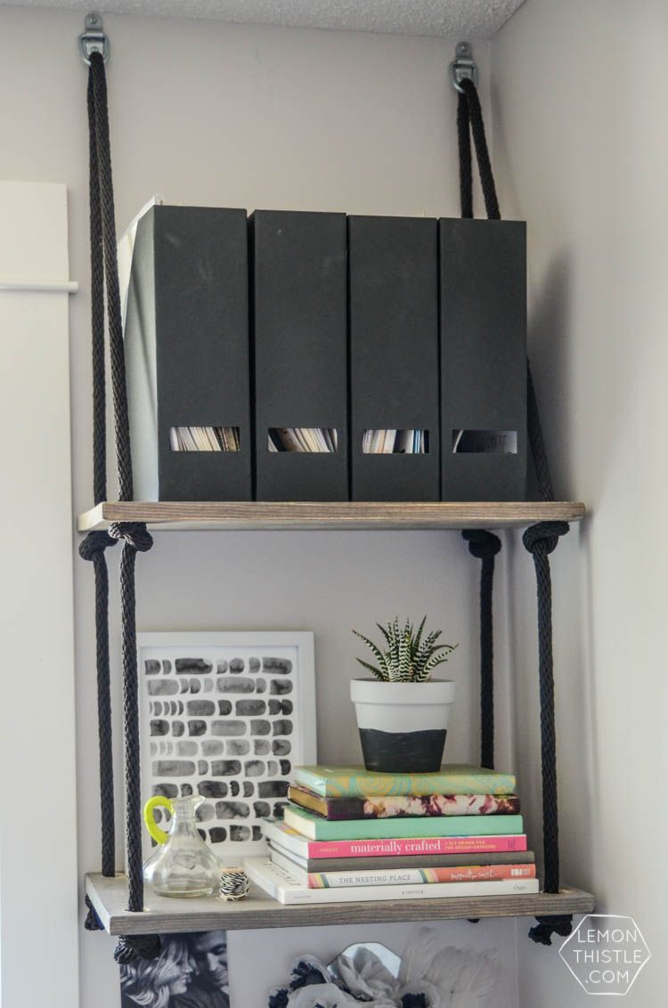 Build these DIY Hanging Shelves from Lemon Thistle