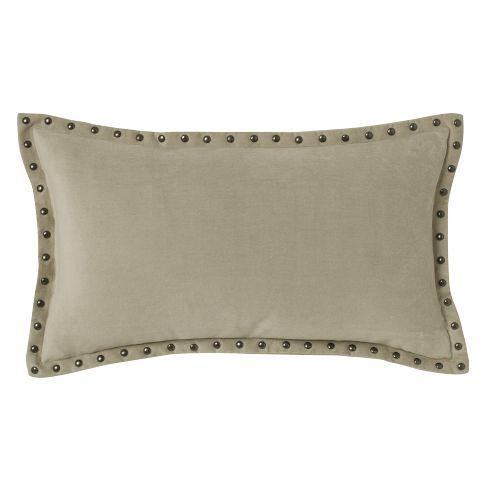 Studded Velvet Pillow Cover In Putty 40 X 40 West Elm 4040 40 Inspiration 12 X 21 Pillow Insert