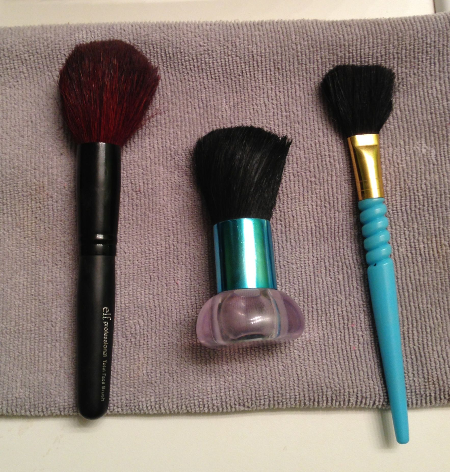DIYClean your make up brushes. Works great! Mix 1 cup of
