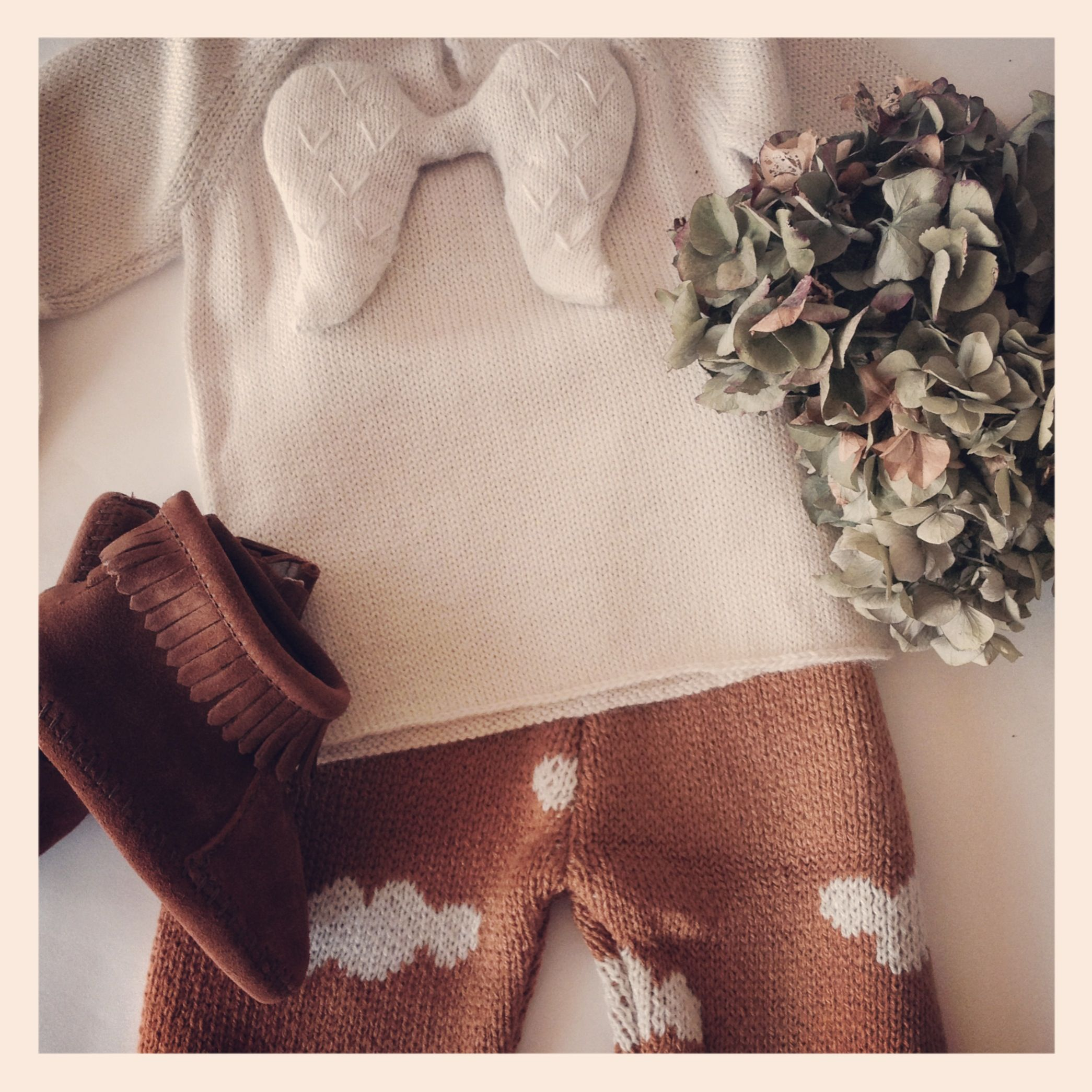 Baby Girl !!! Sweater by Oeuf NYC - Pants by Bobo Choses - Shoes by Minnetonka