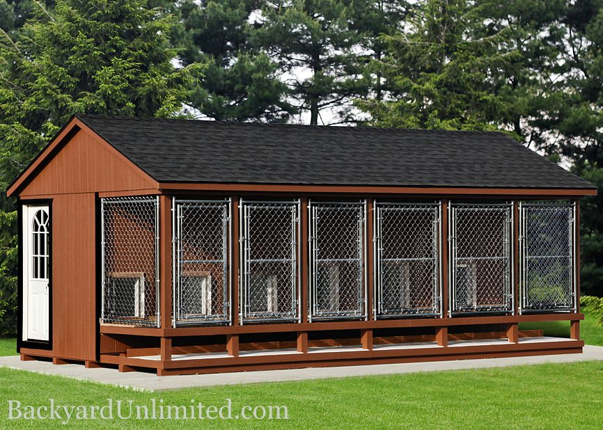 Elite Kennel With Octagon Window, Slat Shutters And Vinyl Posts