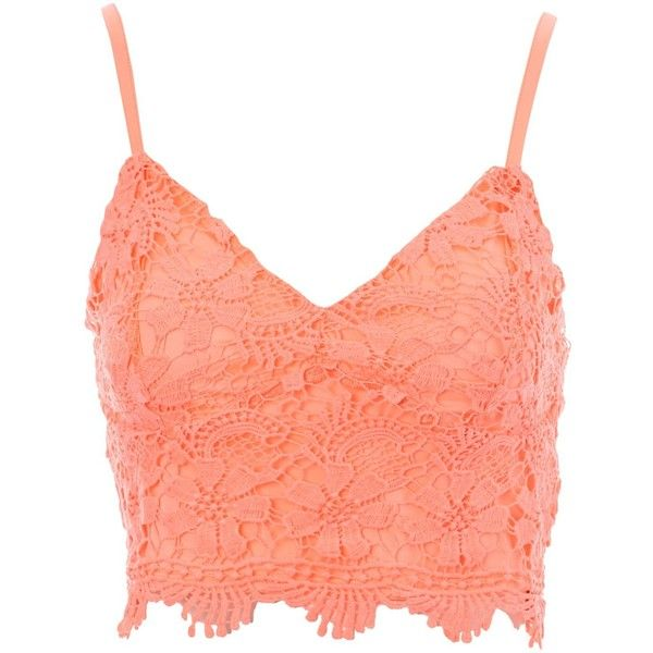 594ba5700d Jane Norman Crochet Bralet (£17) ❤ liked on Polyvore featuring tops ...