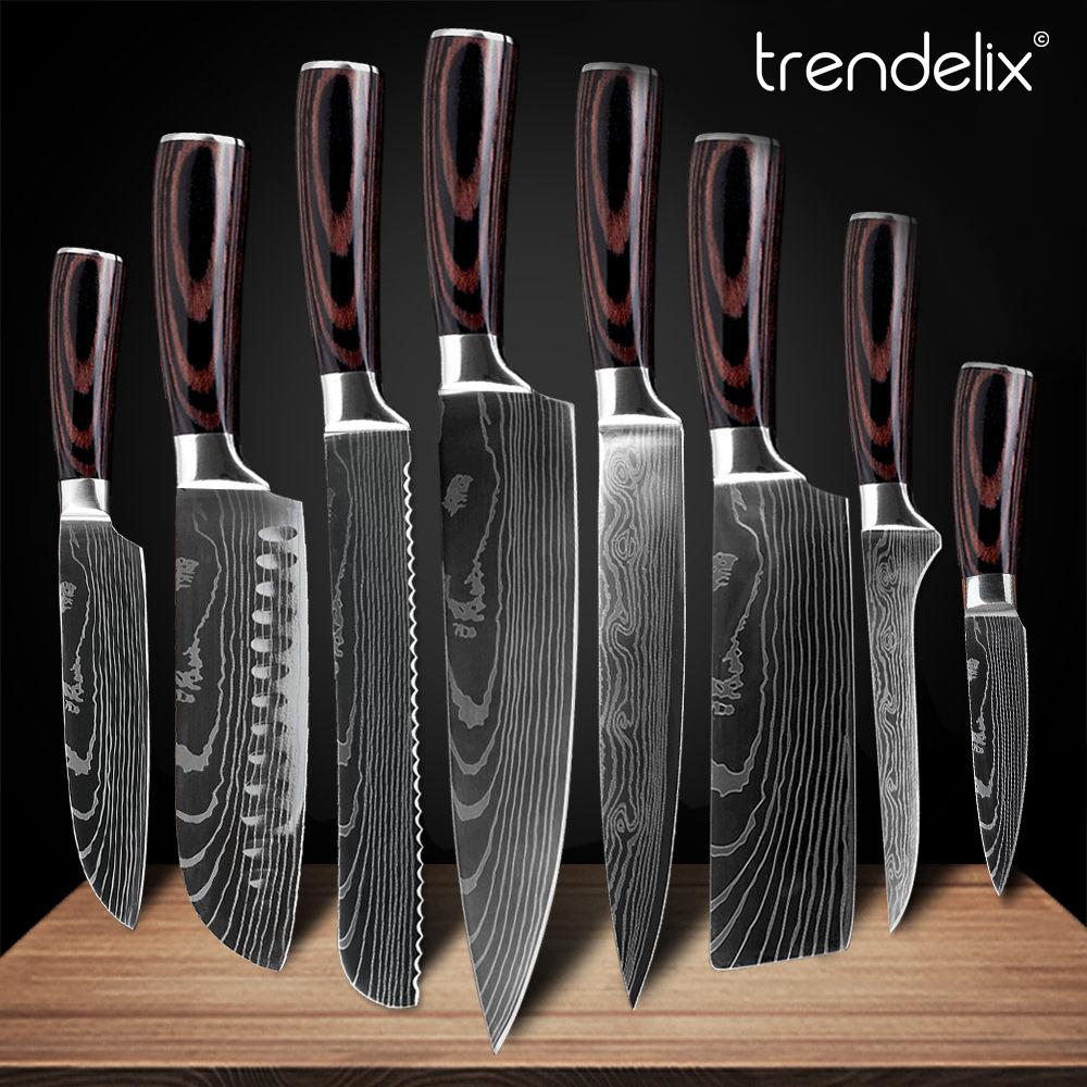 Razor Sharp Japanese Kitchen Knives In 2020 Japanese Kitchen Knives Chef Knife Set Kitchen Knives