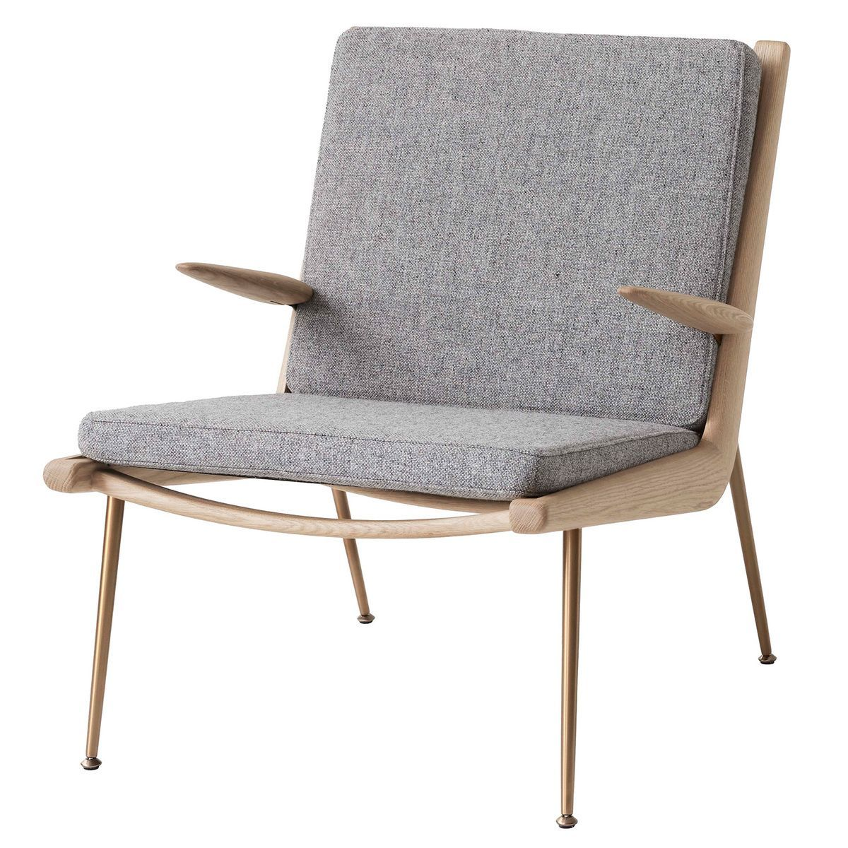 &Tradition Boomerang HM2 lounge chair, Hallingdal 130 - white oiled oa -   - #boomerang #chair #FurnitureDesign #GraphicDesign #hallingdal #HM2 #LogosDesign #lounge #oiled #tradition #Typography #white