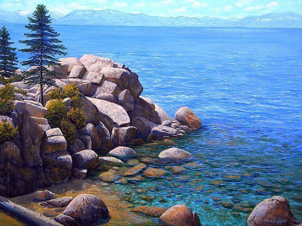Lake Tahoe Painting Skiing#lake #painting #skiing #tahoe
