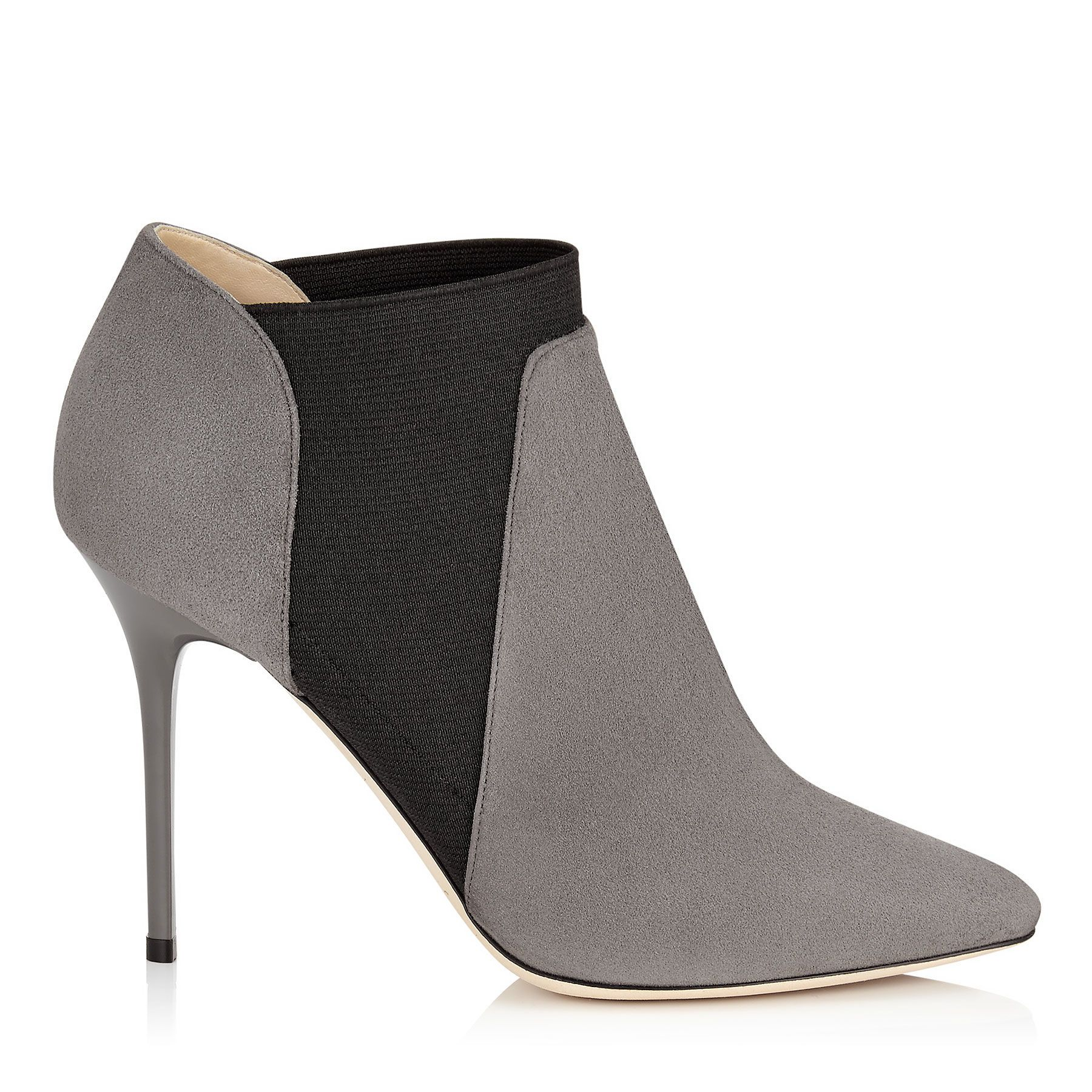 Mist Suede Stretch Ankle Boots | Declan 100 | Autumn Winter 15 | JIMMY CHOO