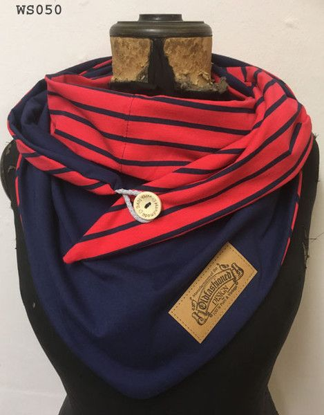 Dreieckstücher - XXL Wickelschal Dreieckstuch Knopfschal Tuch NEU! - ein Designerstück von Cordelia-Loew bei DaWanda