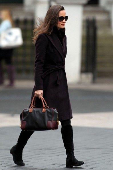 nice coat and boot combo pippa