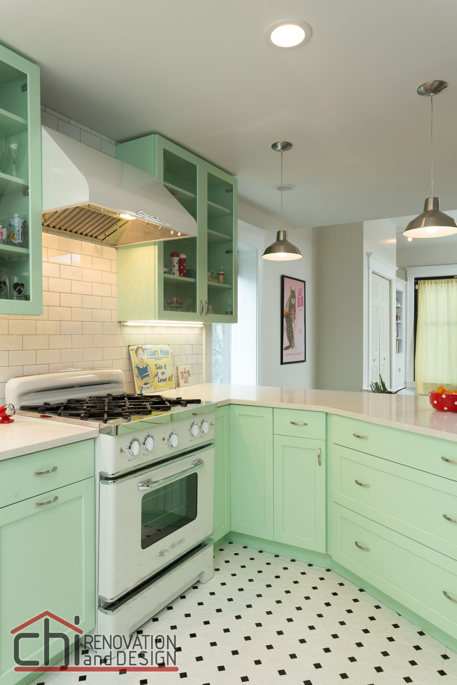 This Retro Kitchen Makeover Feels Like The Worlds Happiest Diner - Retro-kitchen-design-you-never-seen-before