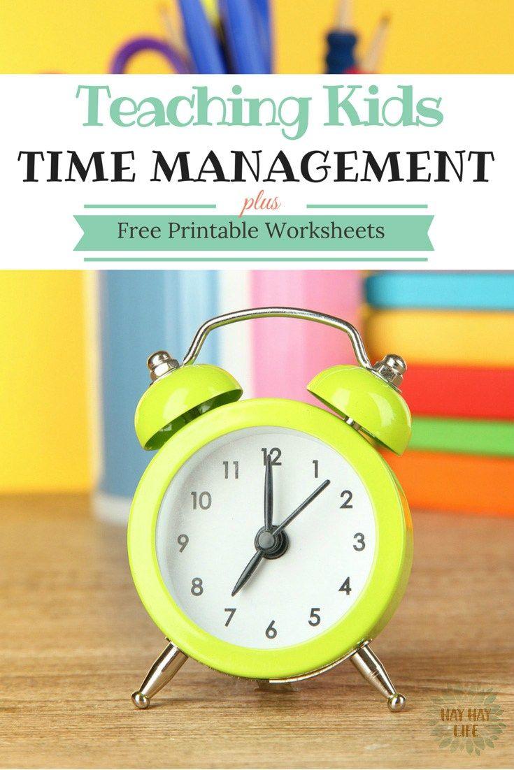 Teaching Kids Time Management Printable Worksheet Good Ideas