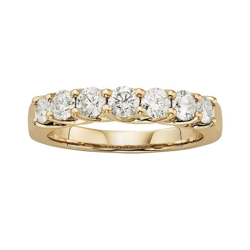 14k Gold 1-ct. T.W. IGL Certified Round-Cut Diamond Wedding Ring, Women's, Size: 7, White