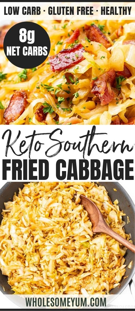 Keto Southern Fried Cabbage Recipe With Bacon