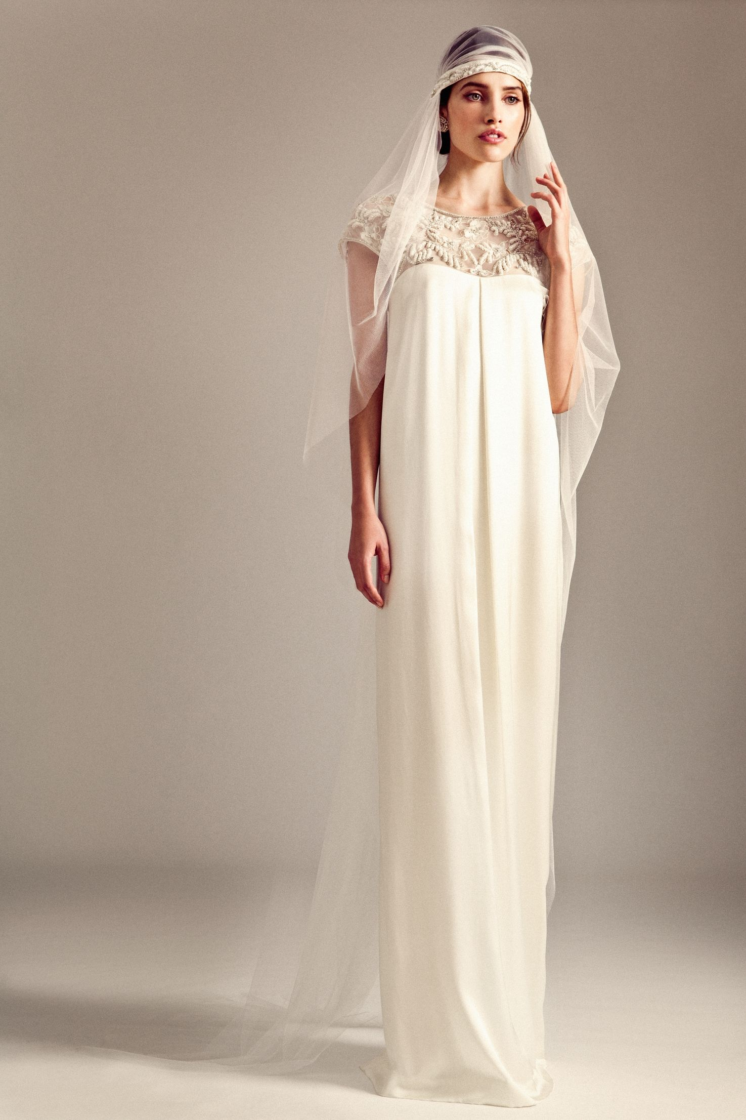 Alice temperley wedding dresses  Jemima Dress Gatsby Crystal Veil from the Temperley Bridal Iris