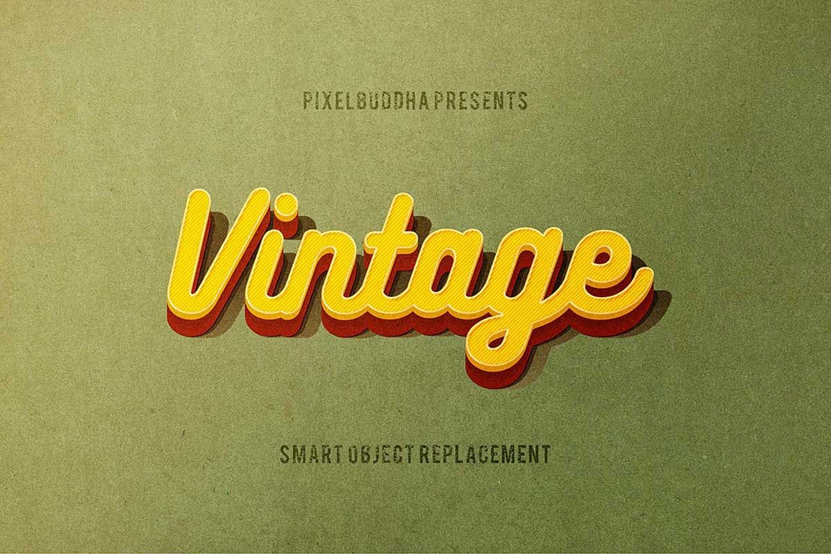 Two Epic Classic Vintage Style Text Effects Psd In 2020 Text Effects Retro Text Psd