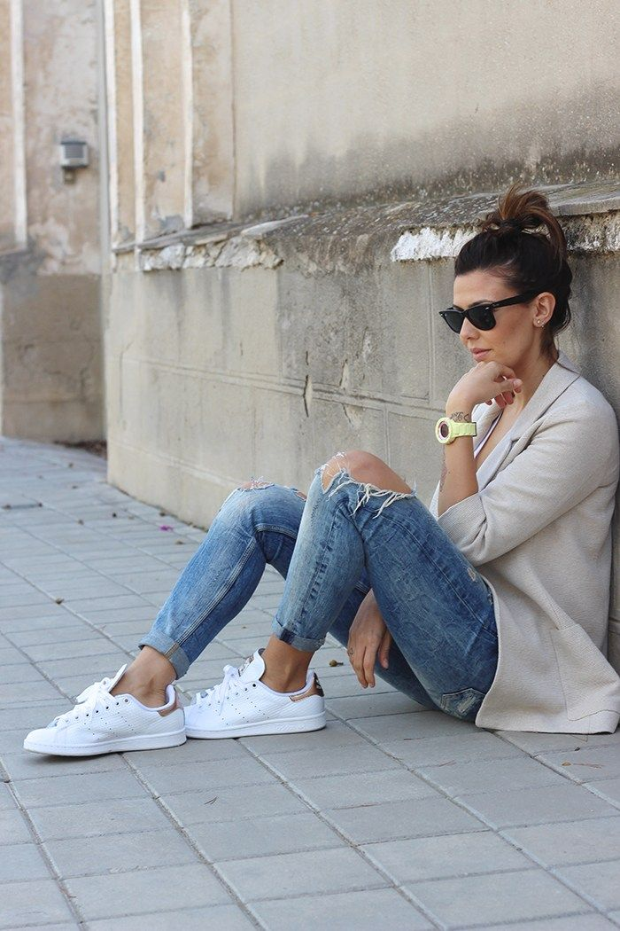 adidas stan smith mujer outfit