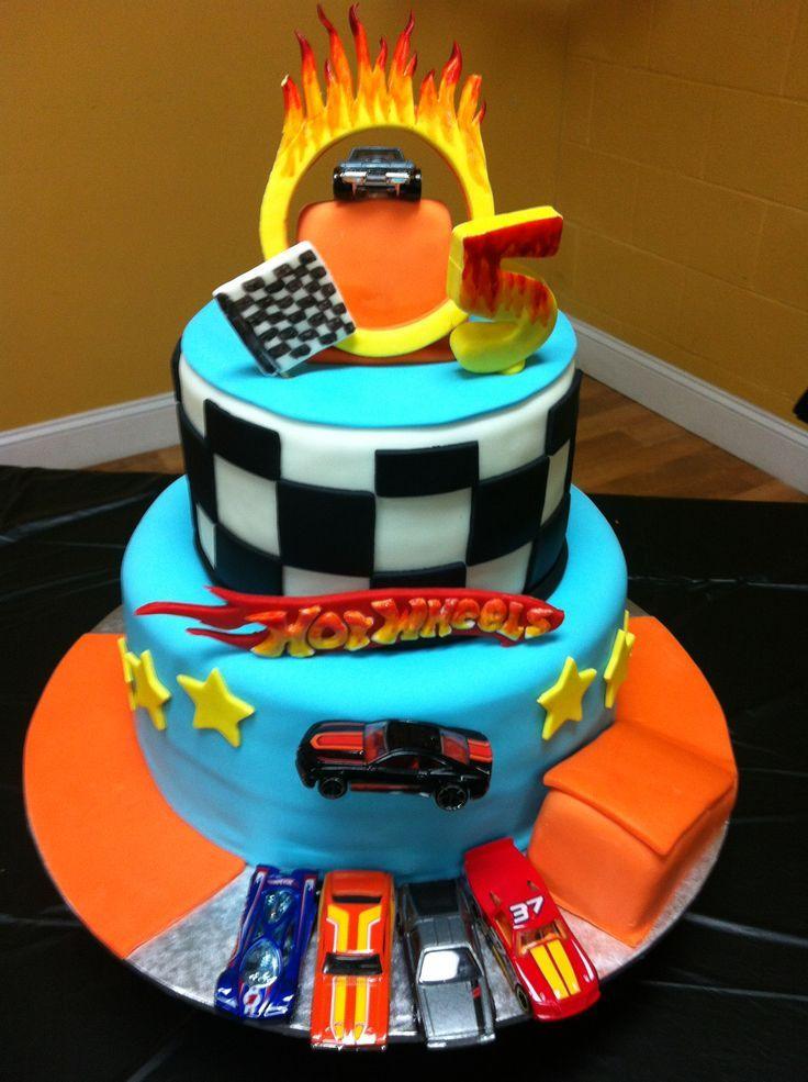 Sensational Hot Wheels Birthday Cake With Images Hot Wheels Cake Hot Funny Birthday Cards Online Alyptdamsfinfo