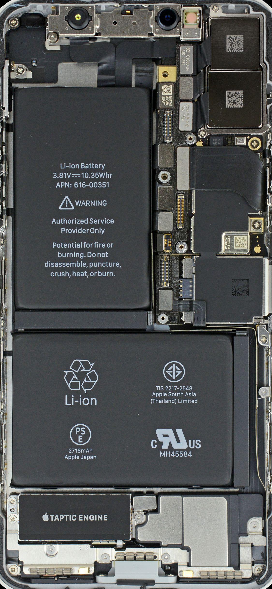 Wallpaper for iPhone X Inside stuff | Tech | Iphone wallpaper inside, Iphone 6 plus wallpaper и ...
