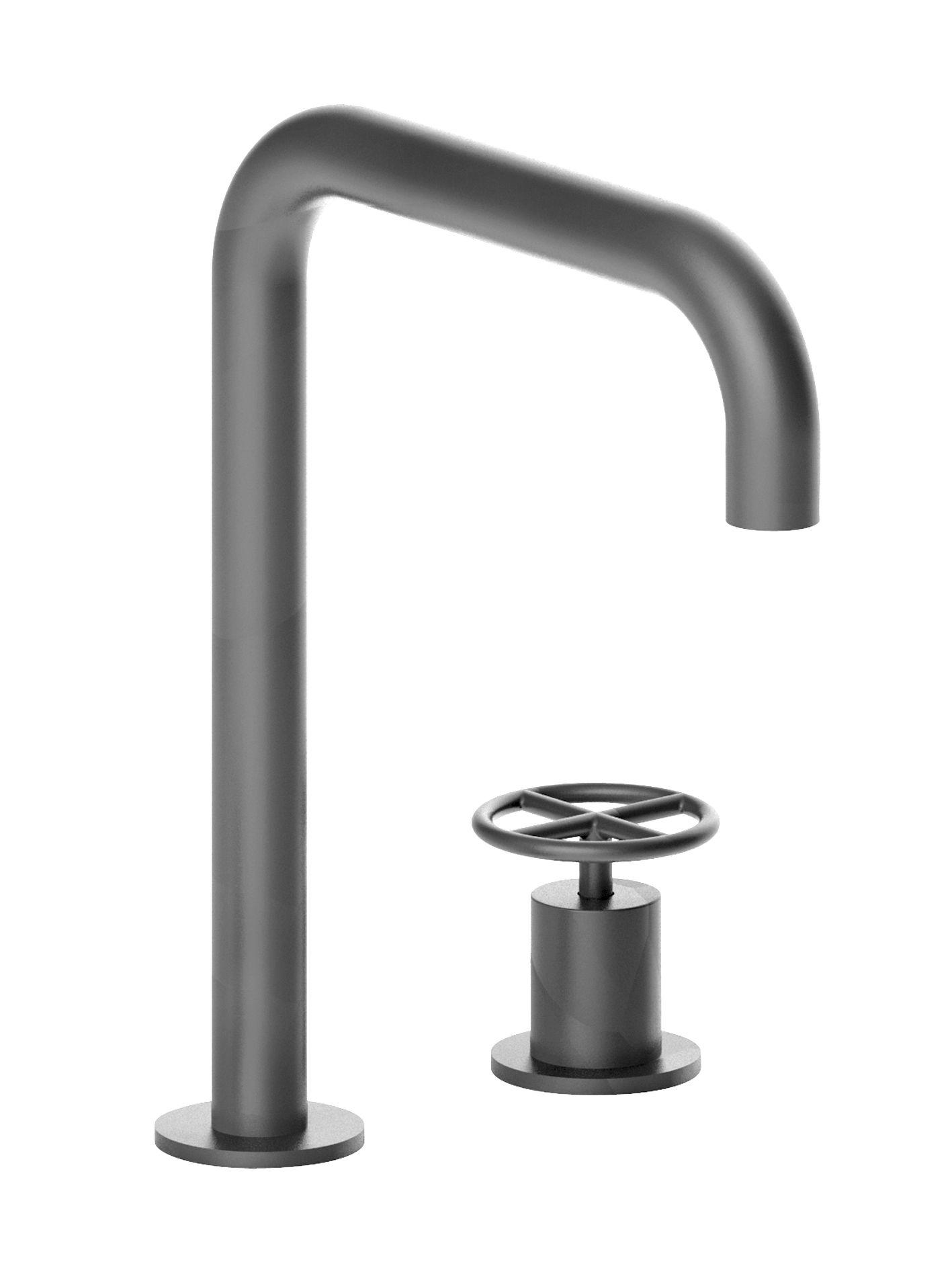 2-hole washbasin mixer / spout projection 18,2 cm / handle / flow ...