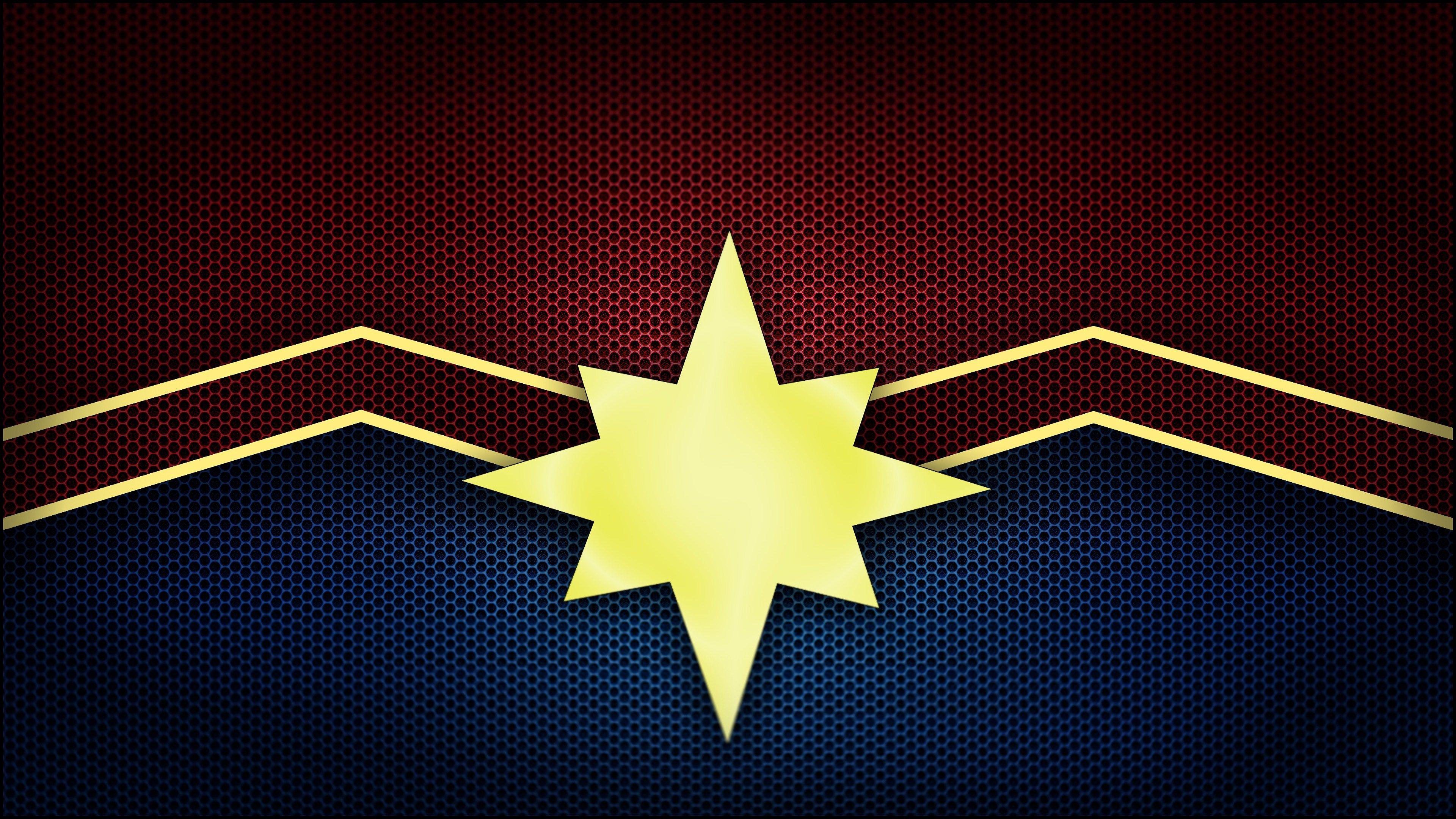 Captain Marvel Movie 2019 Logo 4k Wallpaper Captain Marvel Movie 2019 Captain Marvel Carol Danvers Captain Marvel Marvel Logo Marvel Wallpaper