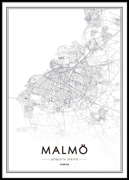 malmö karta tavla Tavla med Malmökarta   Home  malmö karta tavla