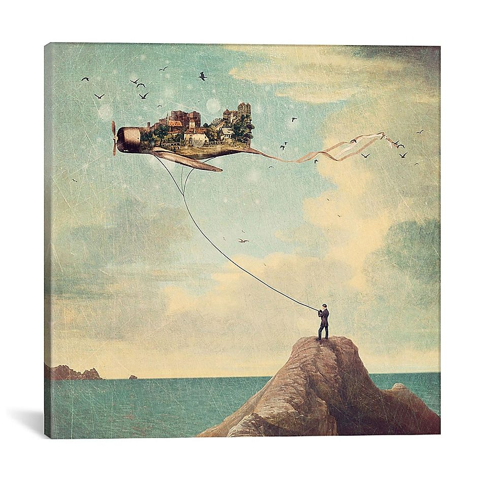 icanvas kite day square canvas wall art in 2020 art on icanvas wall art id=62712