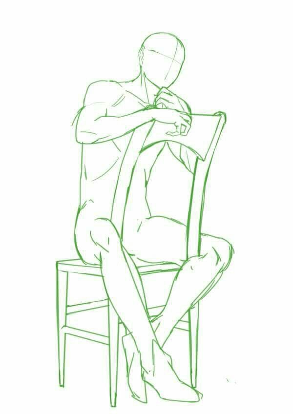 Pose In Chair Art Reference Poses Art Poses Drawings