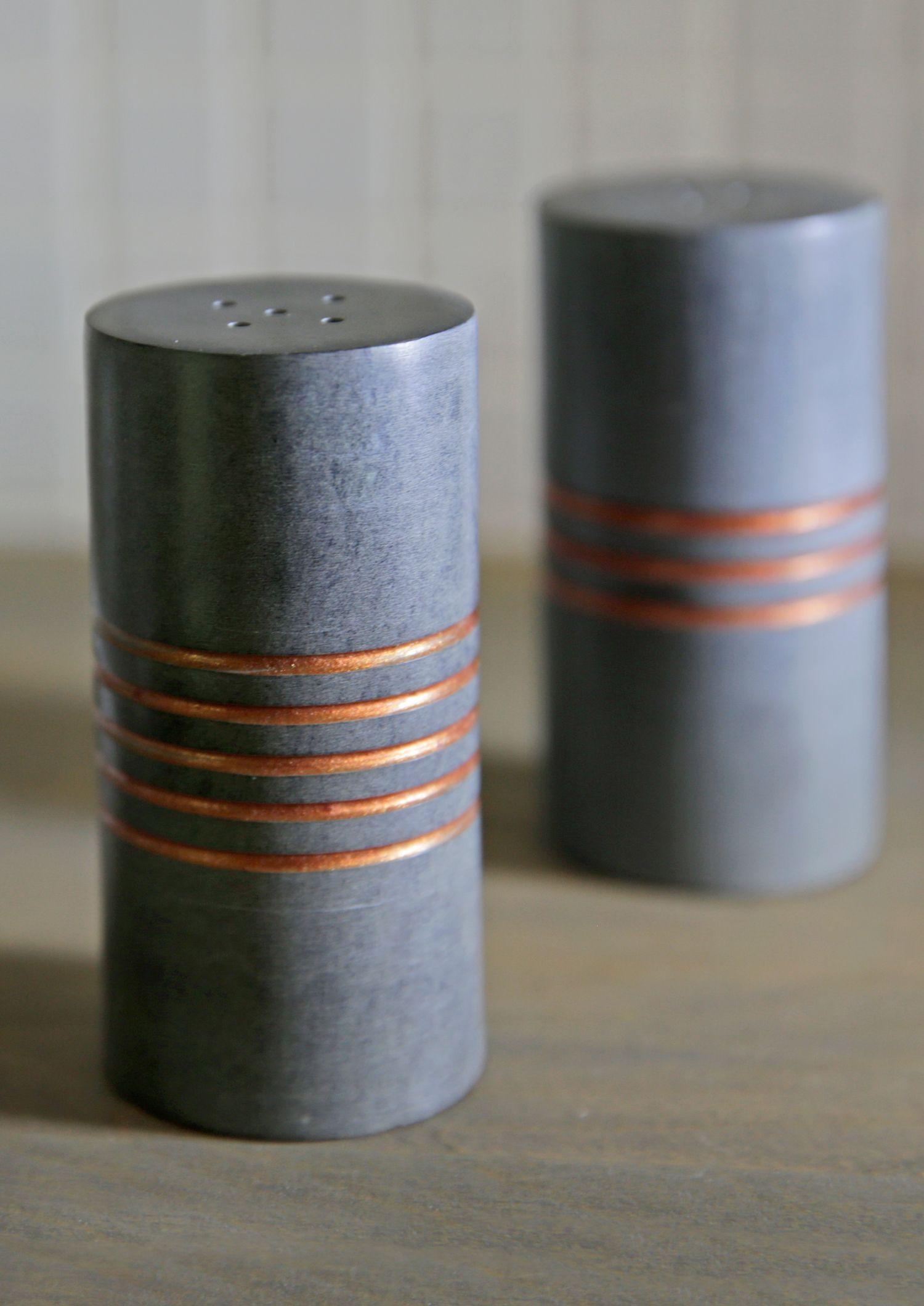Salt Pepper Stone Shakers Loft Decor Minimalist Home Decor