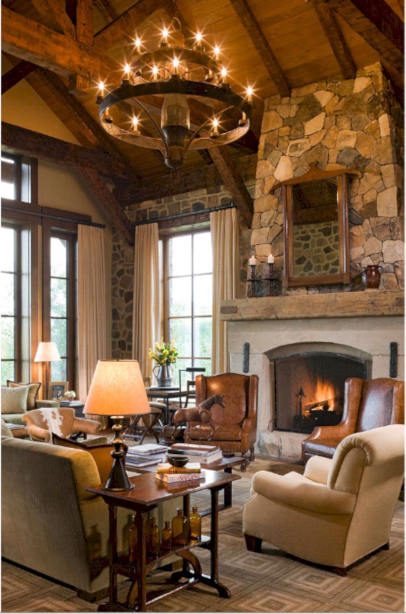 62 Rustic Living Room Curtains Design Ideas Leather Living Room