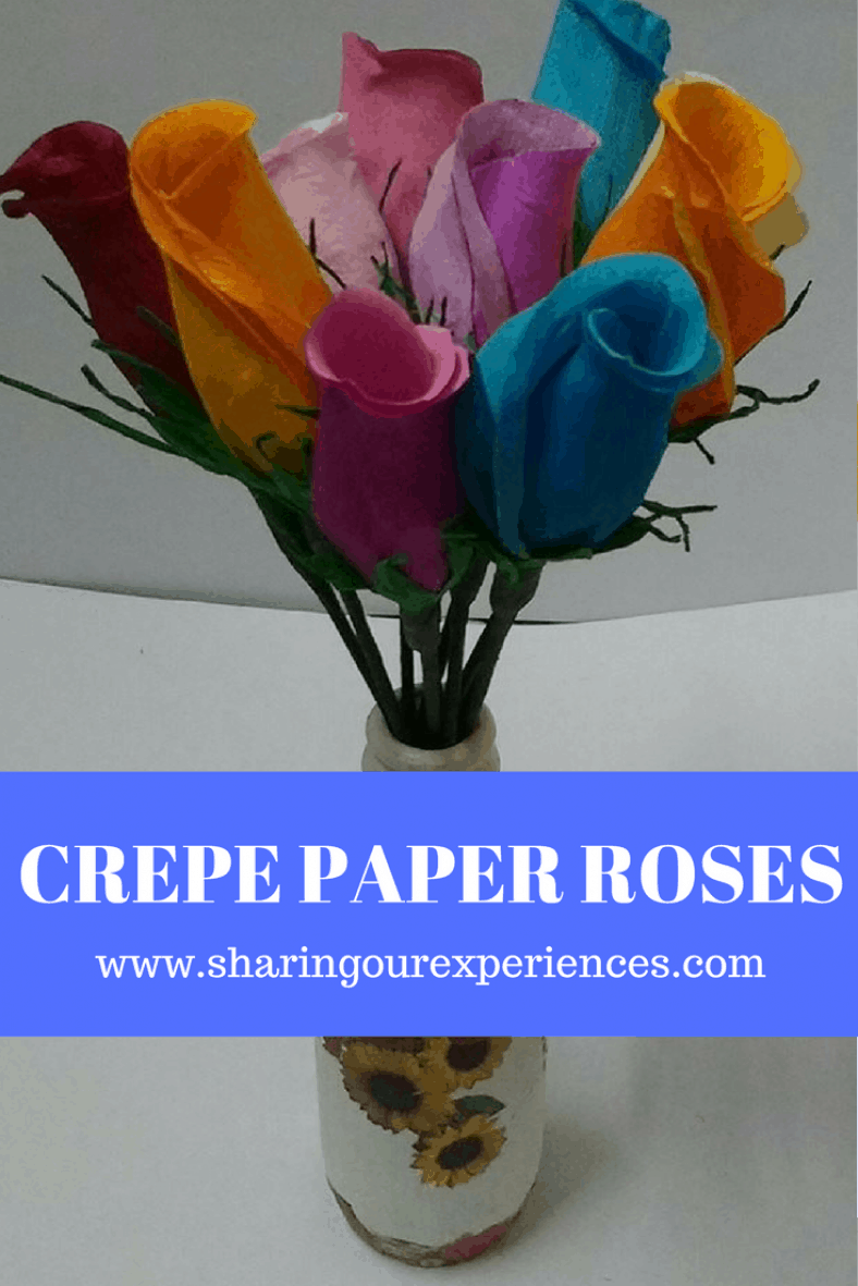How to make Crepe Paper Rose buds #crepepaperroses How to make Crepe Paper Rose buds | Sharing Our Experiences #crepepaperroses