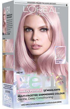 L Oreal Feria Smokey Pastels Permanent Haircolor Gold Hair Dye