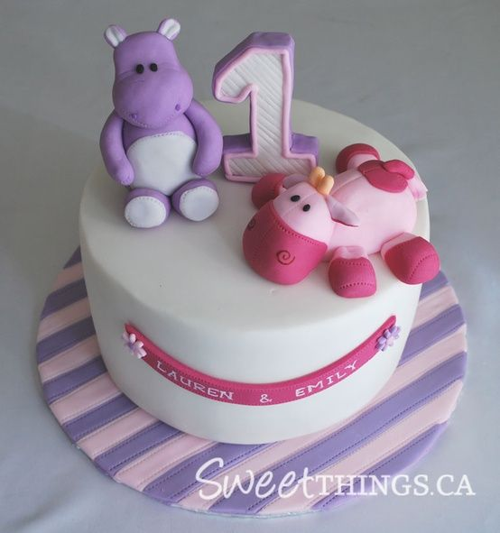 Twins Birthday Party Cakes Double the Fun Parties Cakes