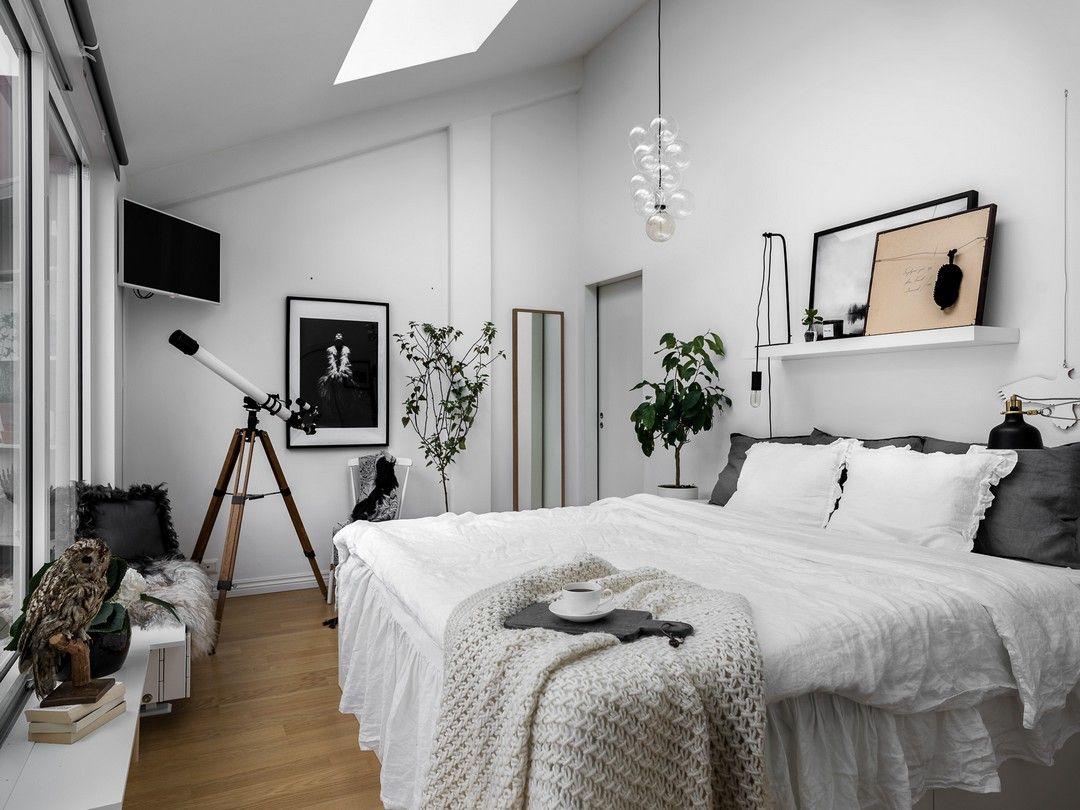 Chambre Blanche Et Bois sympathique amÉnagement | chambre | chambre cocooning
