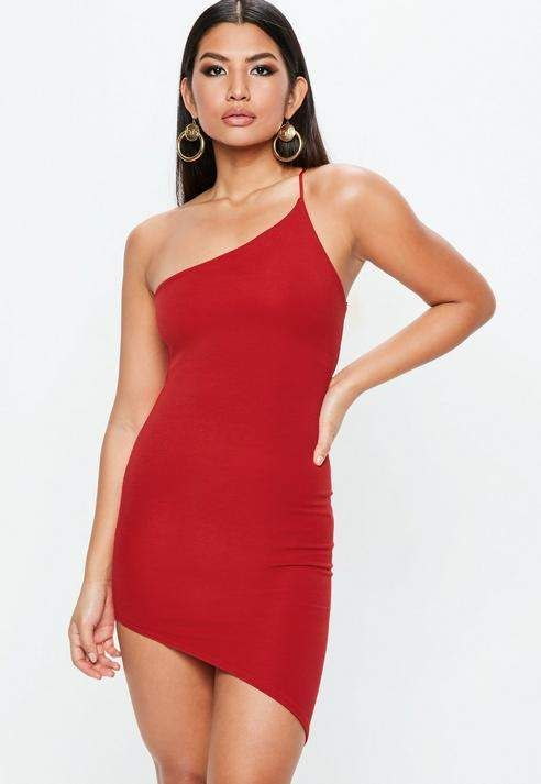 a6ea14c3d80 Missguided Red One Shoulder Mini Dress