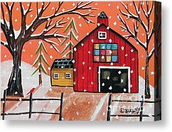 Barn Quilt Canvas Print by Karla Gerard