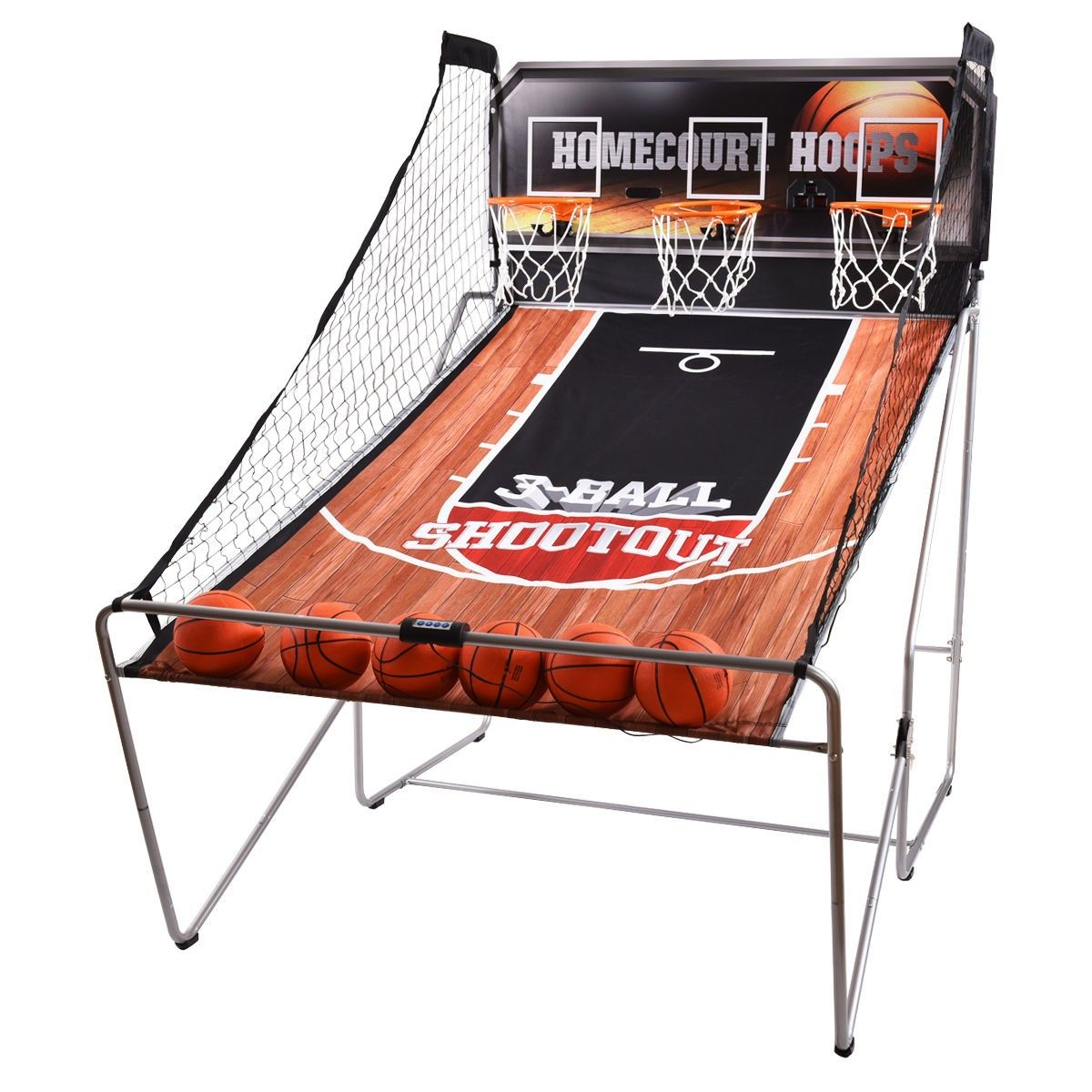 Indoor 3 Player Electronic Hoops Basketball Arcade Game Indoor Basketball Basketball Arcade Games Basketball Games For Kids