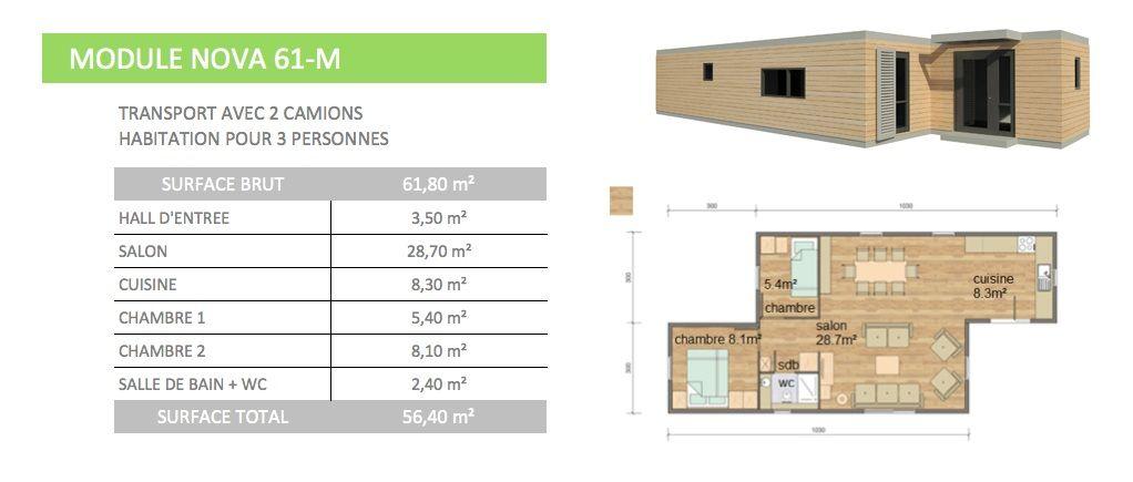 maison modulaire mobile transportable sur pilotis contener. Black Bedroom Furniture Sets. Home Design Ideas