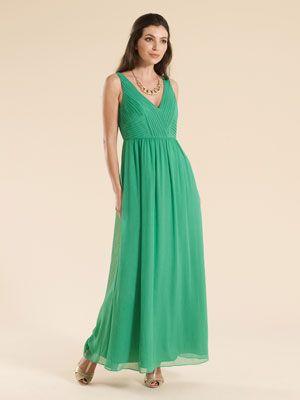 Monsoon lime green maxi dress