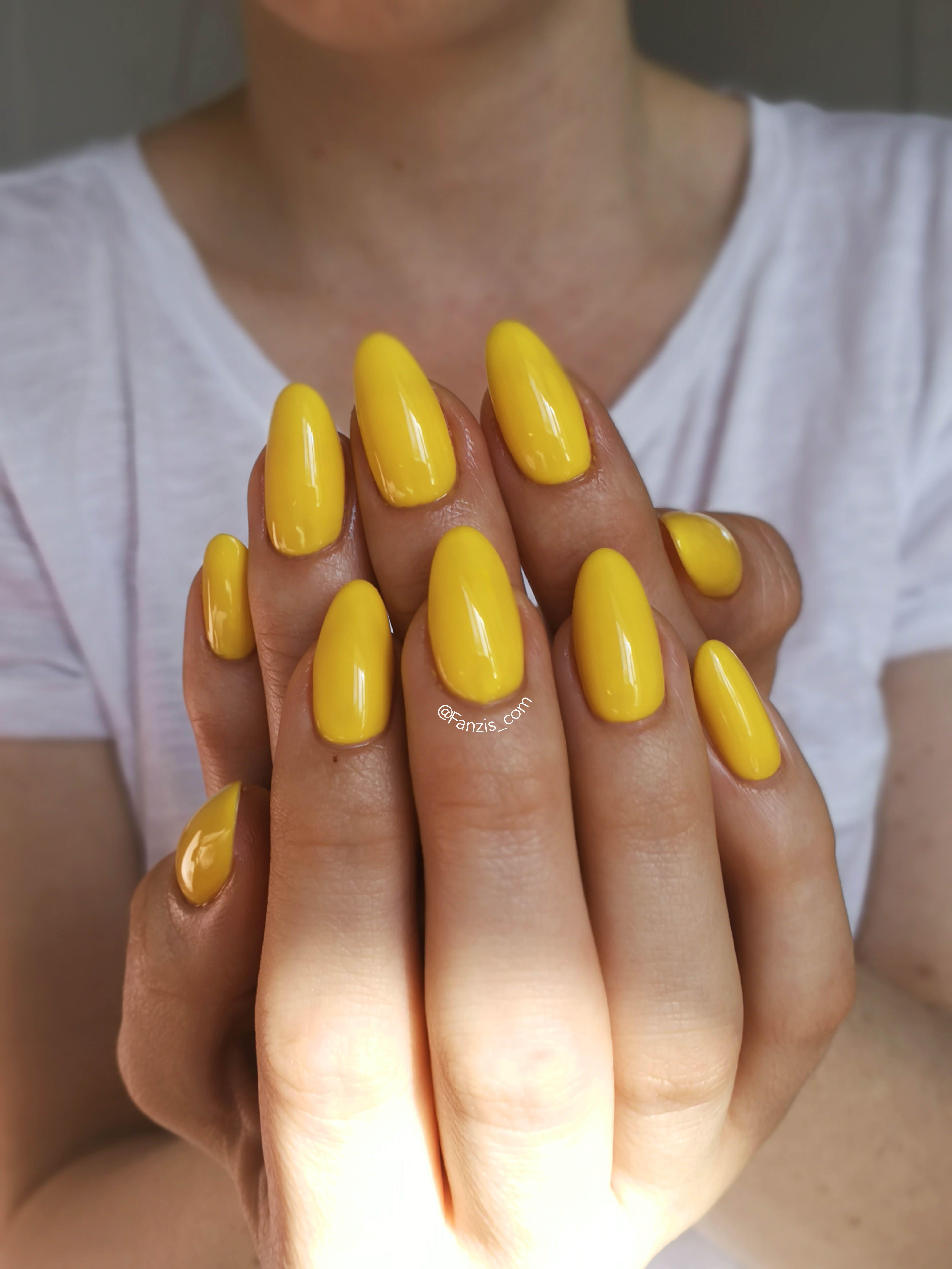 Bright Mustard Yellow Gelpolish Nails Halo From Madam Glam Yellow Nails Design Yellow Nails Glam Nails