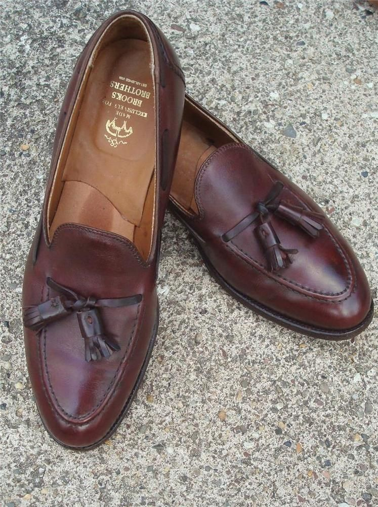 Mens 10 1/2 C BROOKS BROTHERS ( ALDEN ) Tassel LOAFER Made in USA