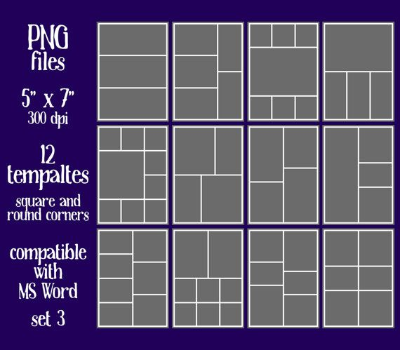 Make your own collage sheets with this Layered Template! Easy to use ...
