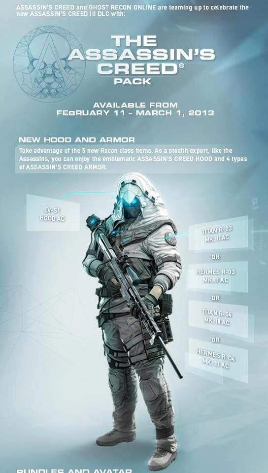 Assassin S Creed Ghost Recon Pack Assassins Creed Assassins