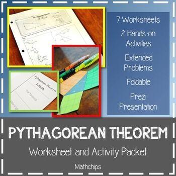PYTHAGOREAN THEOREM Worksheet and Activity Packet Pythagorean - pythagorean theorem worksheet