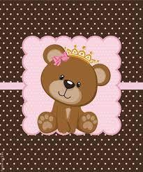 Risultati immagini per ursinha marrom e rosa para imprimir