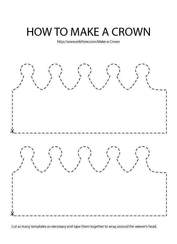 photograph about Birthday Crown Printable named Produce a Crown House and Backyard garden Crown template, Create a