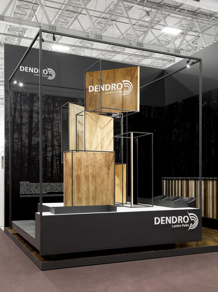 Display stand for exhibition : Dendro stand at turkeybuild by bcn designstudio
