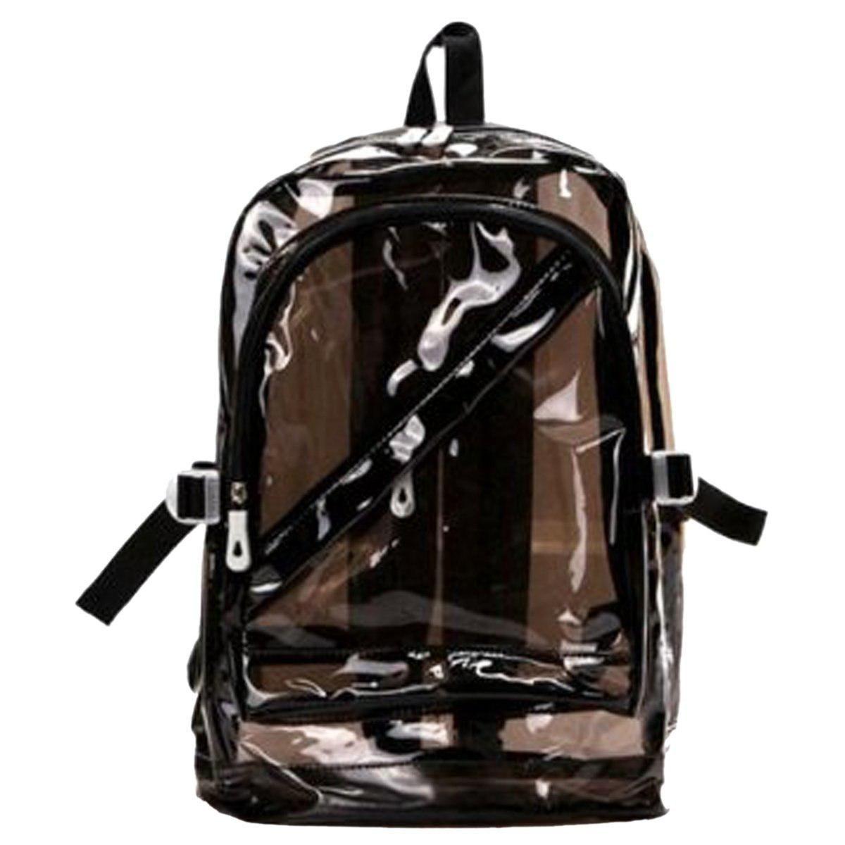 9b37e8b012 TFTP Sweety Women Girl Zipped Fashion Transparent Clear Backpack Plastic Bag  School Bag Bookbag