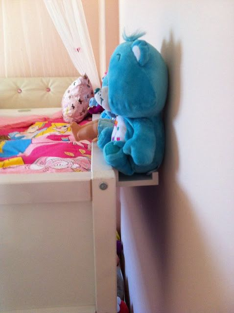 A Picture Ledge To Fill The Gap Between Bed And Wall Perfect For Stuffed Animals