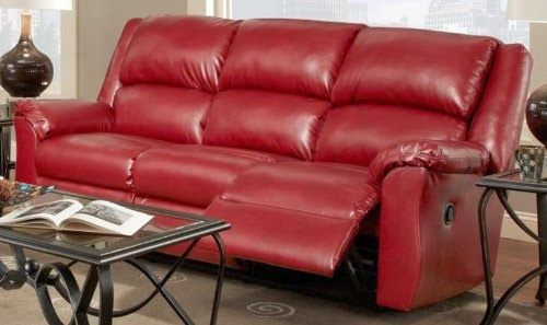 Reclining Sofas For Cheap Red Leather Sofa